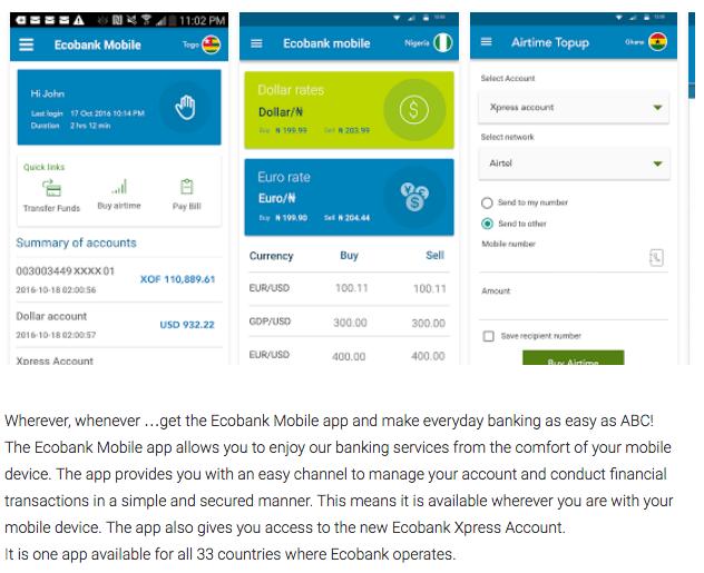 Ecobank Mobile banking App