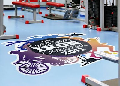 epoxy painted 3d flooring for gym event promotion