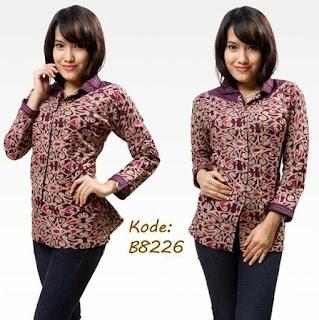 Baju Batik Modern Lengan Panjang Perempuan