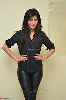 Shruti Haasan Looks Stunning trendy cool in Black relaxed Shirt and Tight Leather Pants ~ .com Exclusive Pics 086.jpg