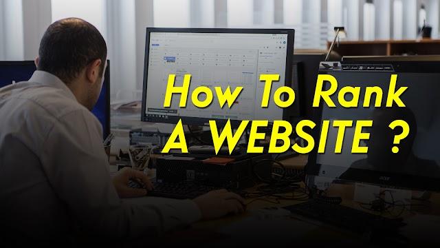 How To Rank Website ?