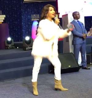 Photos/Videos of Tonto Dikeh ministering at a church in South Africa 1
