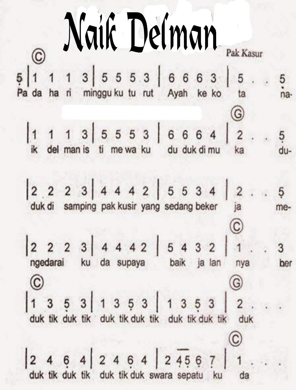 Lirik Lagu Delman : lirik, delman, Delman