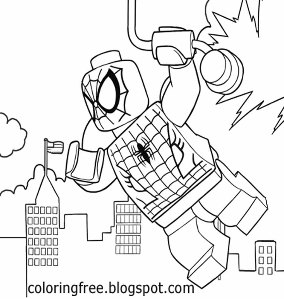 Free Spider Man Lego Coloring Pages Lego Girl Coloring Pages. Spider ...