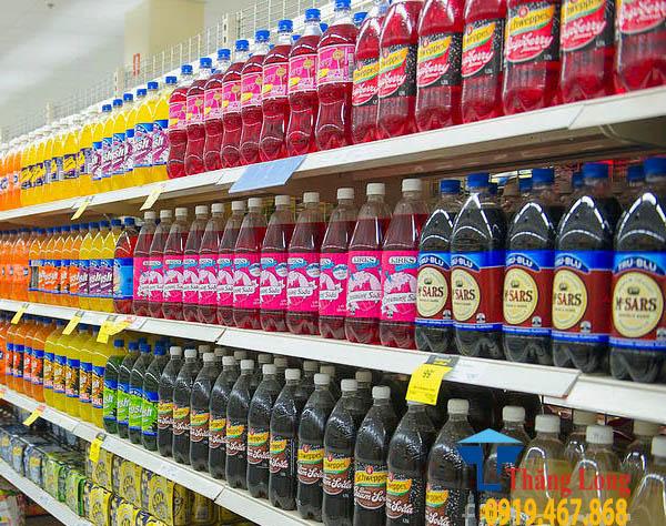 Giá kệ trưng bày nước ngọt