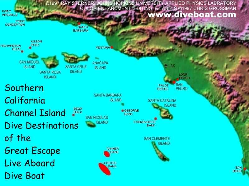 Islands Off California Coast Map Three BCs and ..: Foggy morning ride to Santa Cruz Island