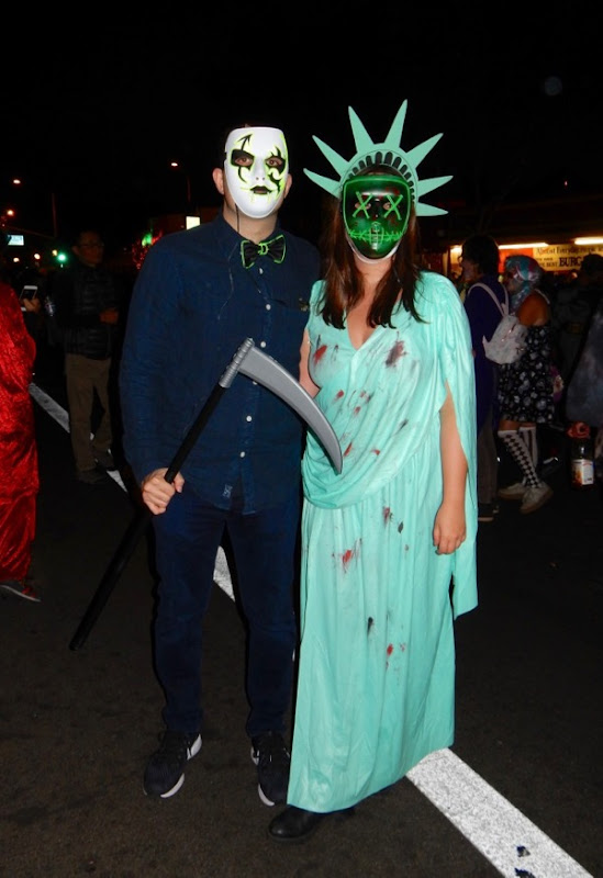 West Hollywood Halloween Purge costumes