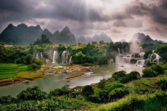 Gambar Pemandangan Alam Terindah di Dunia Air Terjun Aliran Air Sungai Cantik