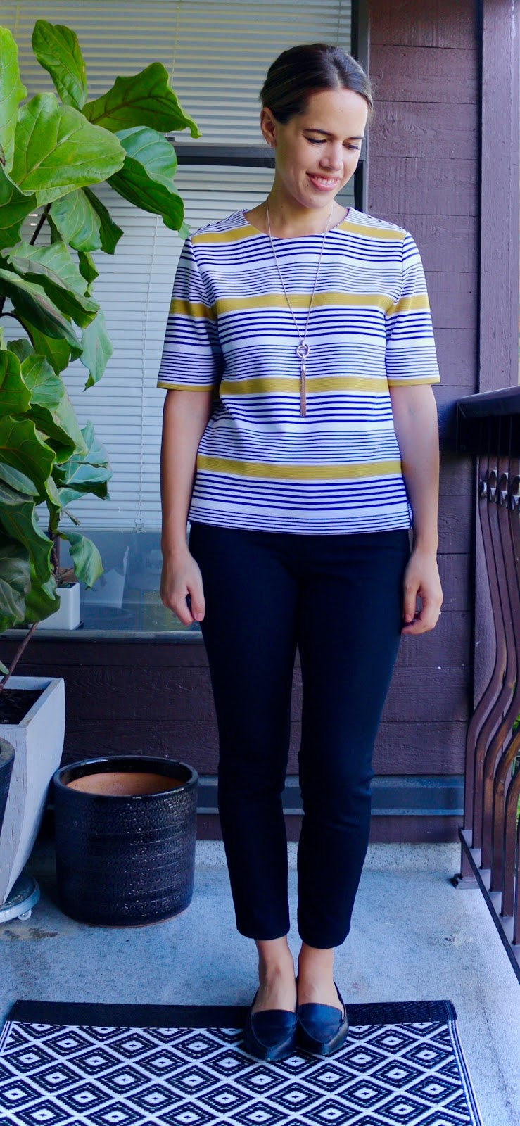 Jules in Flats - Boxy Striped Top