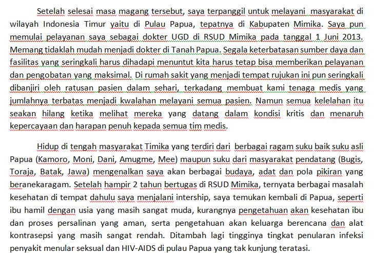 contoh essay peranku bagi indonesia lpdp