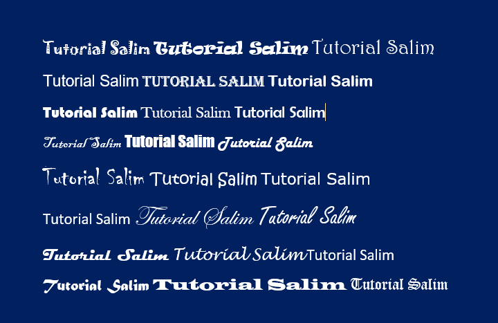 Jenis Fonts