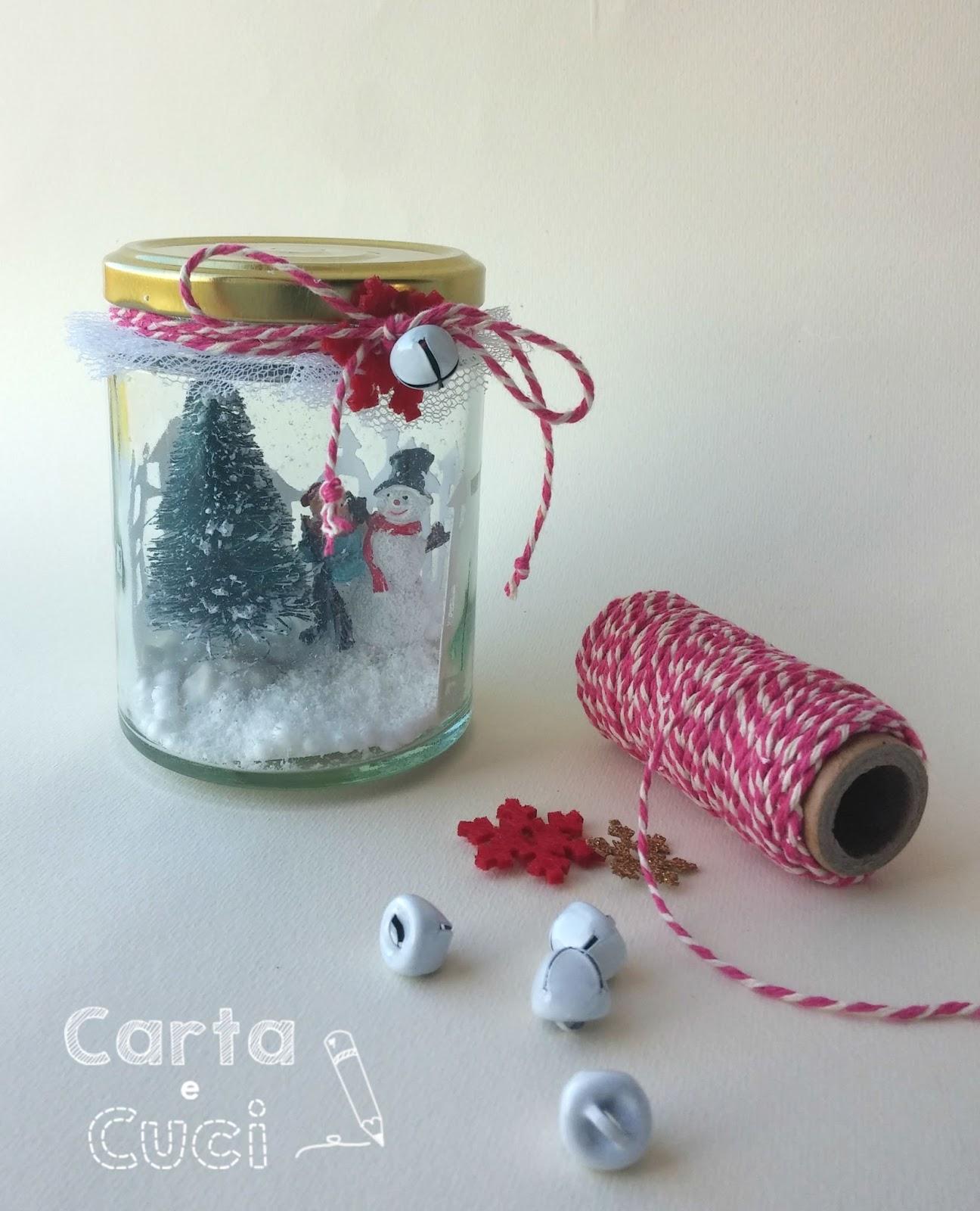Come Creare Una Renna Luminosa carta e cuci: decorazioni di natale - riuso barattolo vetro