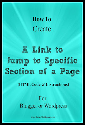 How to Create a Link to Jump to a Specific Part of a Page - HTML Tutorial