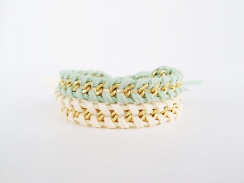 Ioanna's Notebook - DIY chain woven bracelet