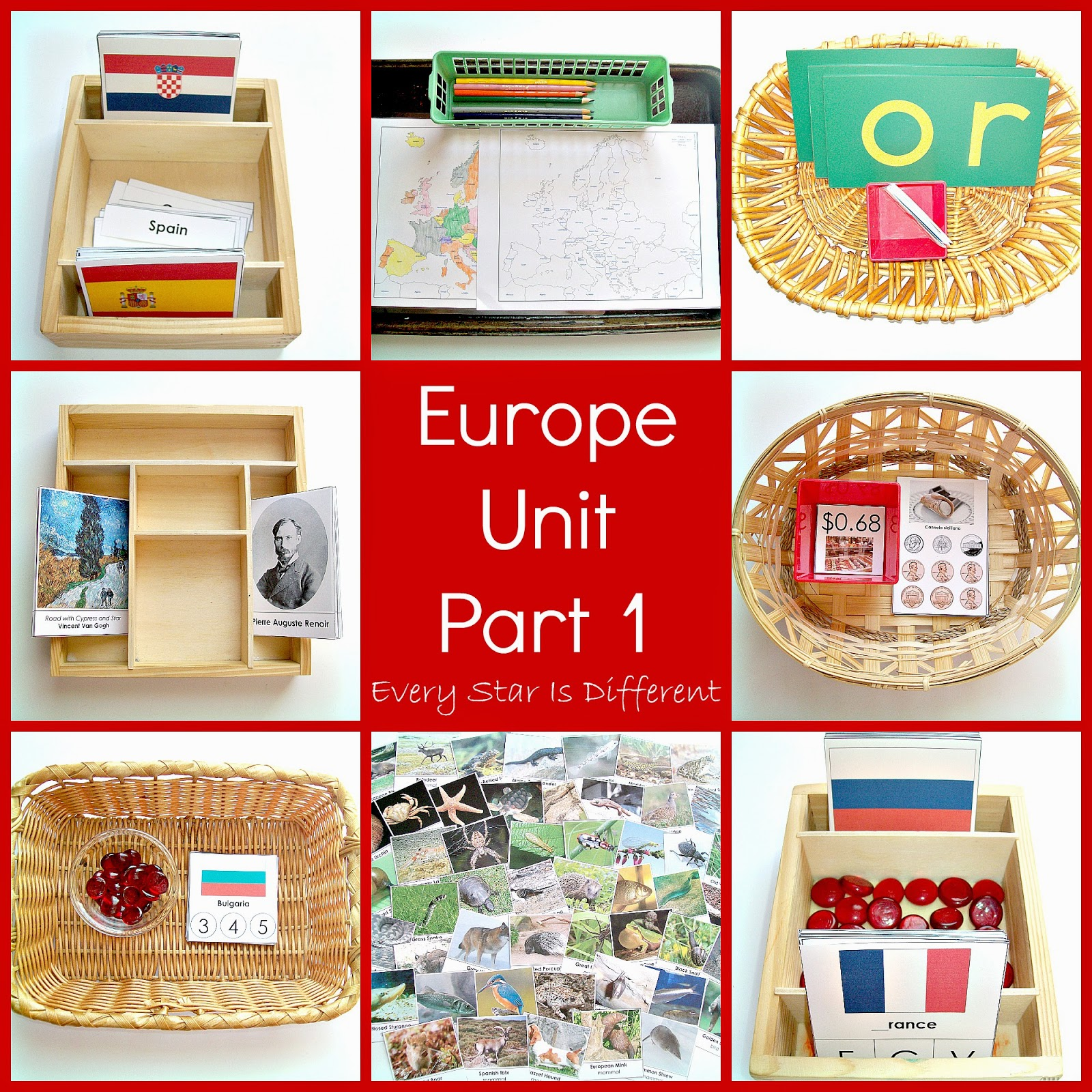 Montessori-inspired Study of Europe