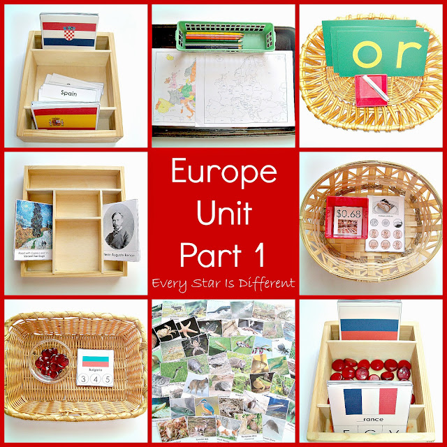 Montessori-inspired Study of Europe Part 1 with Free Printables