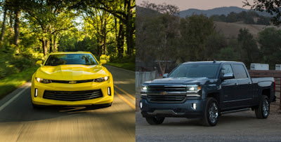 2018 Chevrolet Camaro and 2018 Chevrolet Silverado
