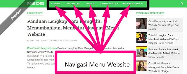 Panduan Lengkap Cara Mengedit, Menambahkan, Mengatur Navigasi Menu Website