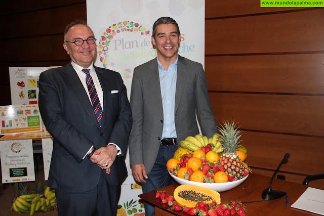 Un total de 82.957 escolares en 397 centros educativos de toda Canarias se benefician este curso del Plan de frutas y verduras
