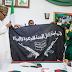 Nigerian Army Presents Recovered Boko Haram Flag To President Buhari