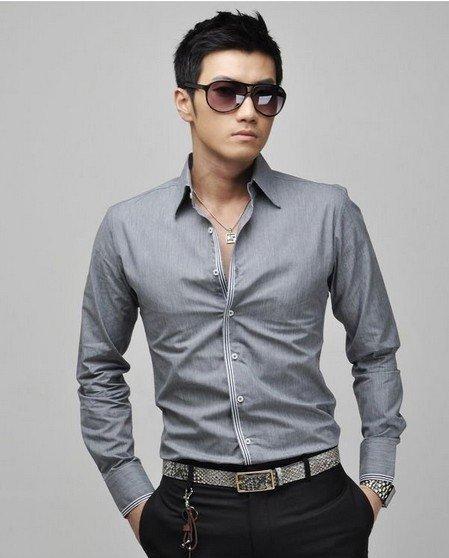Dress shirts for men 2012 stylish summer dress shirts for Boys slim fit dress shirt