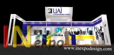 Design Booth 2D Universitas Al Azhar Kontraktor pameran Inexpodesign
