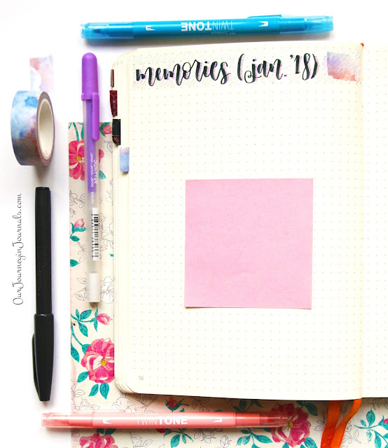 blank january bullet journal monthly memories spread