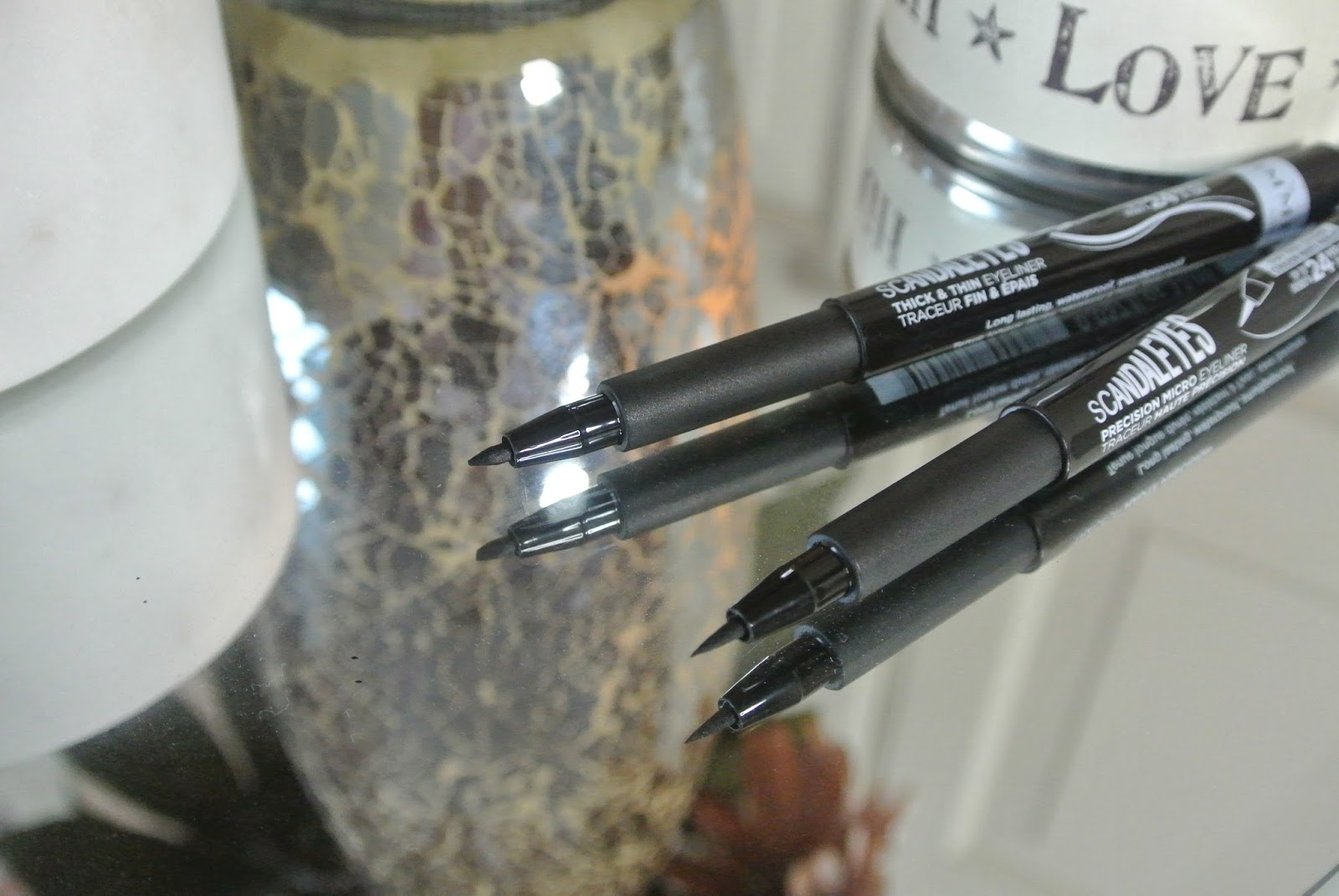 Rimmel Scandaleyes Thick and Thin Liner and Precision Micro Eyeliner Review Image
