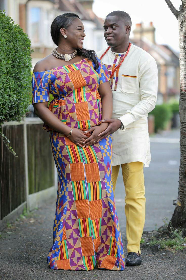 Beautiful african couple outfits fashenista for Traditional photos