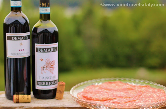 Demarie Langhe Nebbiolo pairing with Salami