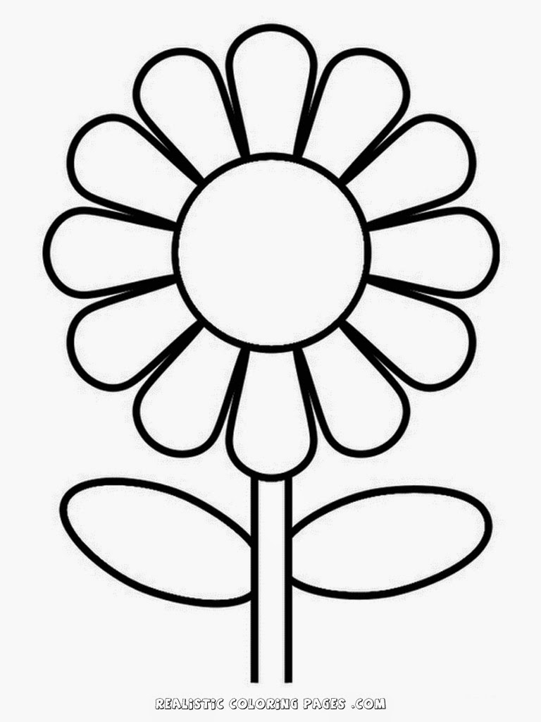 cute and simple sun flower coloring pages