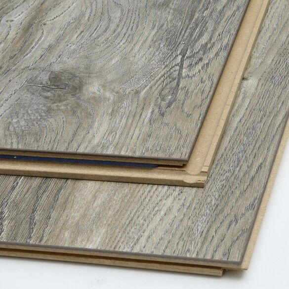 Grey coloured laminate flooring slats