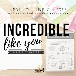 Incredible Like You Online Classes April 2019 - The Crafty Carrot Co.