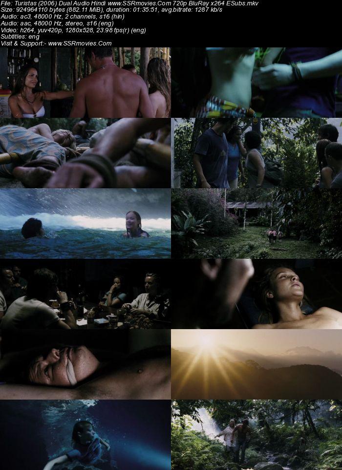 Turistas (2006) Dual Audio Hindi 720p BluRay x264 850MB ESubs Movie Download