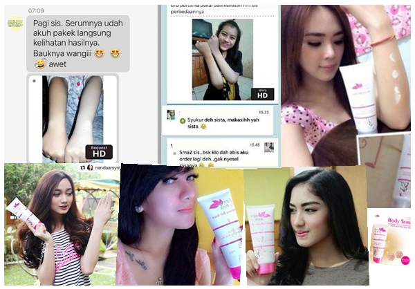 Testimoni Fair n Pink Body Whitening Serum Konsumen