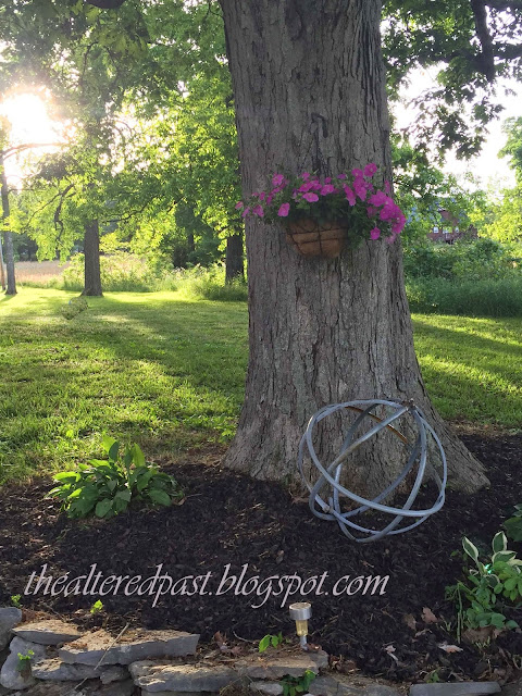 repurposing steel drum rings into amazing garden orb