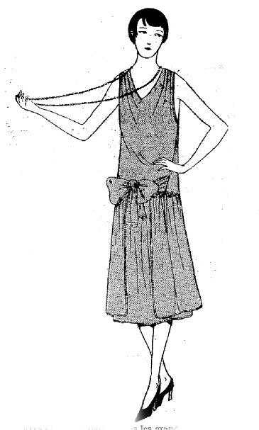 The Vintage Pattern Files: Free 1920's Sewing Pattern - Wrap Dress