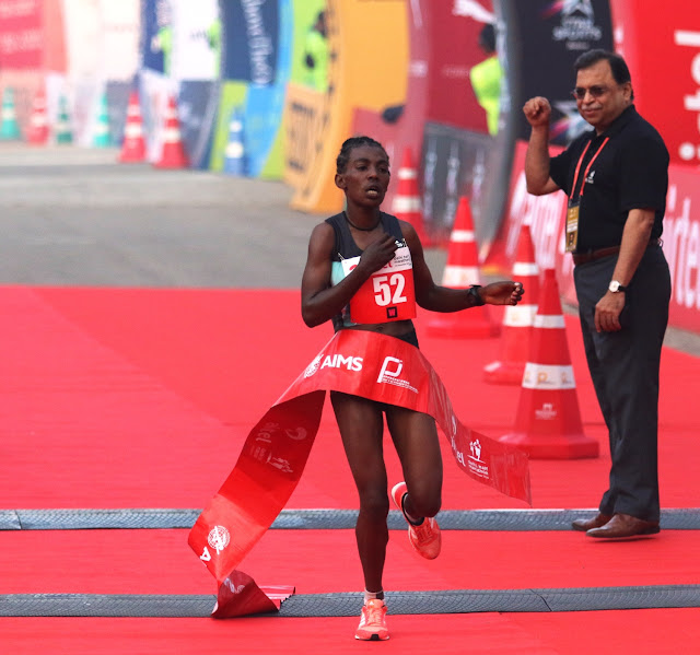 Airtel Delhi Half Marathon 2016 : Eliud Kipchoge & Worknesh Degefa take International honours