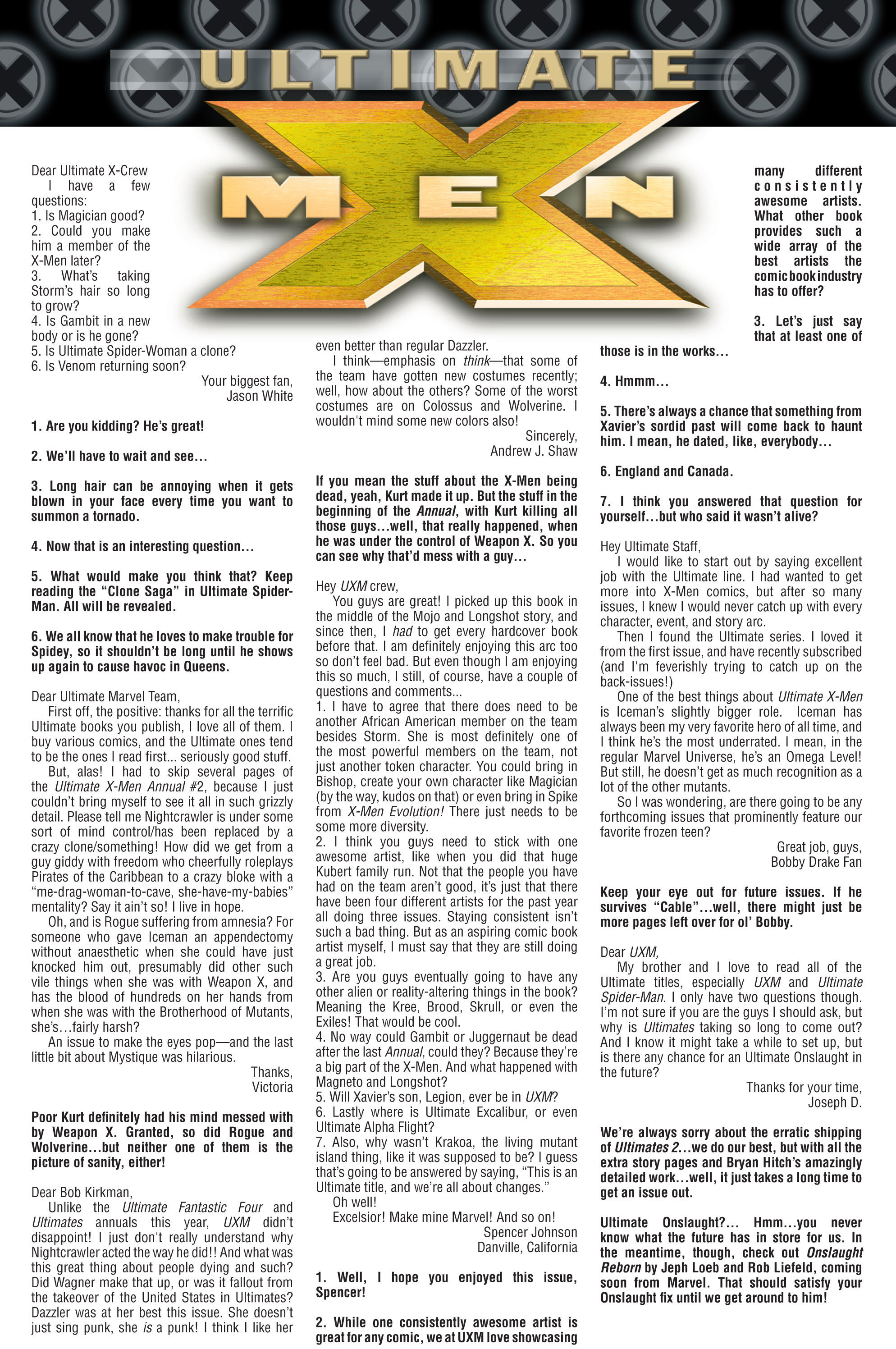 Read online Ultimate X-Men comic -  Issue #76 - 24