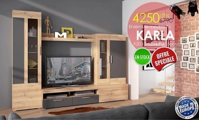 Solde AZURA HOME Ensemble Meuble TV KARLA