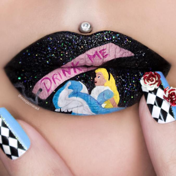 Karya Seni Menarik Dari Bibir Karya Jazmina Daniel