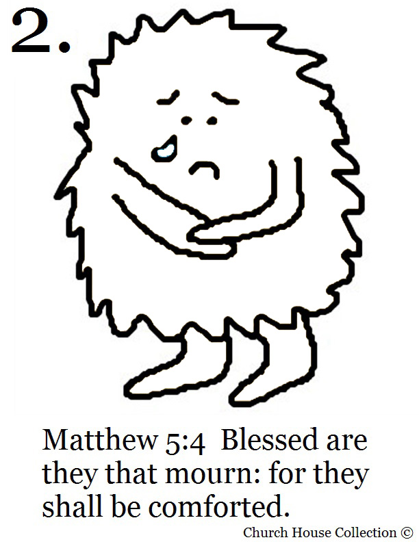 the beatitudes coloring page for the 2nd beatitude blessed are they that mour for they shall be comforted matthew 54