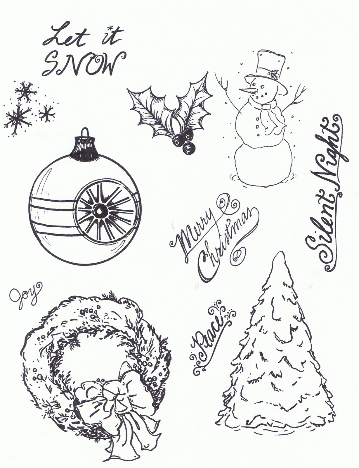 Lilac Lavender Christmas Winter Clipart