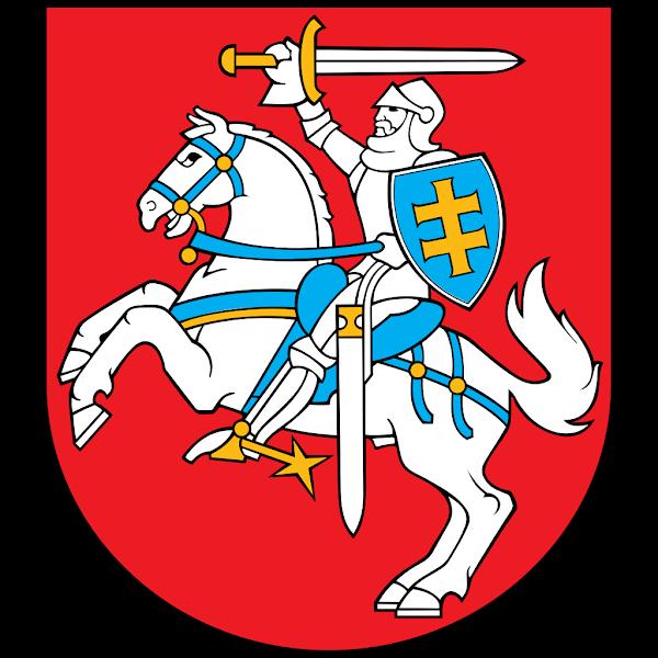 Logo Gambar Lambang Simbol Negara Lituania PNG JPG ukuran 600 px