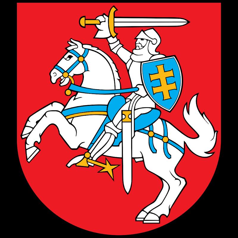 Logo Gambar Lambang Simbol Negara Lituania PNG JPG ukuran 800 px