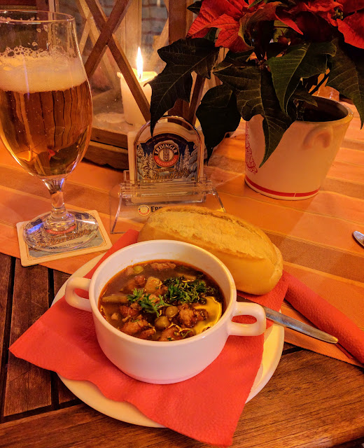 Goulash at the Christmas market at Schloss Charlottenburg in Berlin, Germany