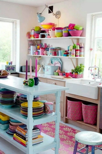 Kitchens with lots of color 1