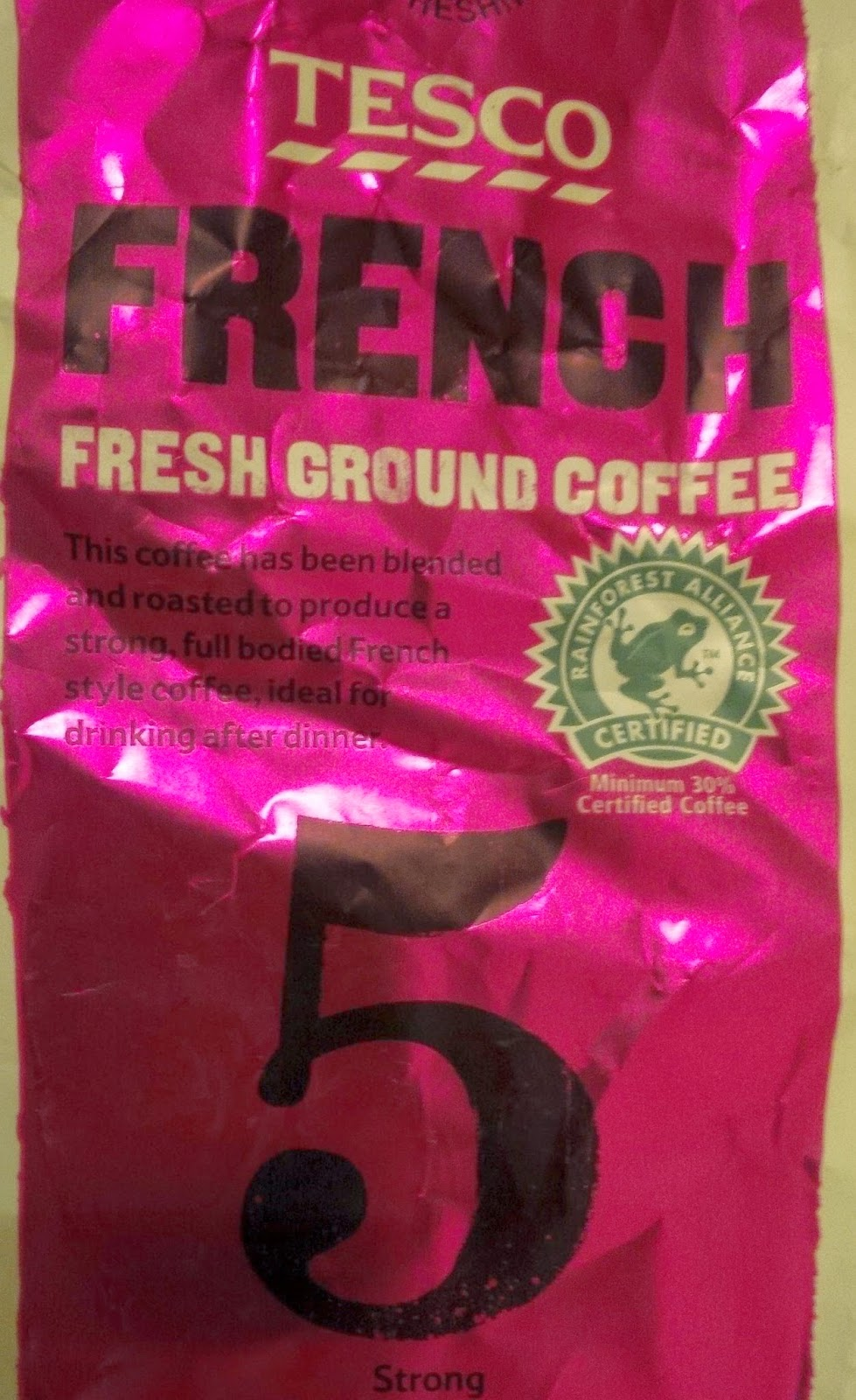 Smell The Tea And Coffee Tesco French Fresh Ground Coffee 5