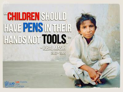 Quote Iqbal Masih untuk merubah mindset anak-anak (tes.com)