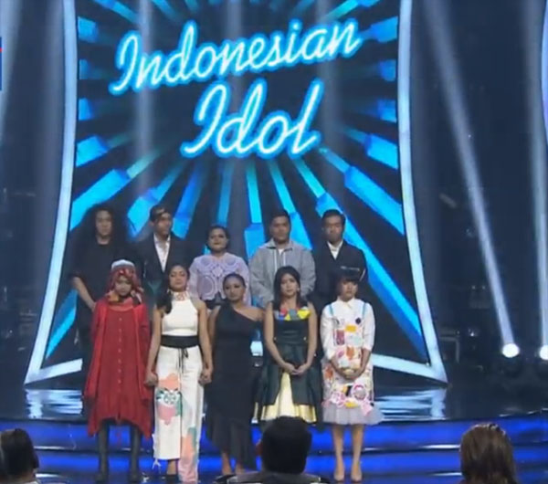 yang tereliminasi 11 februari indonesian idol 2018